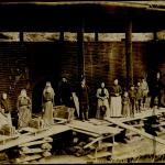 Кирпичный завод купца Варганова. Первая печь для обжига кирпича, 1908 год